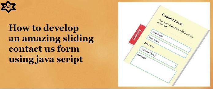 sliding contact form using javascript