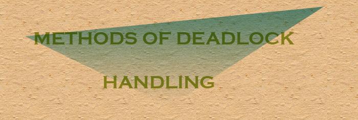 deadlockhandlingmethods