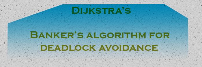 dijkstra-bankers-algorithm