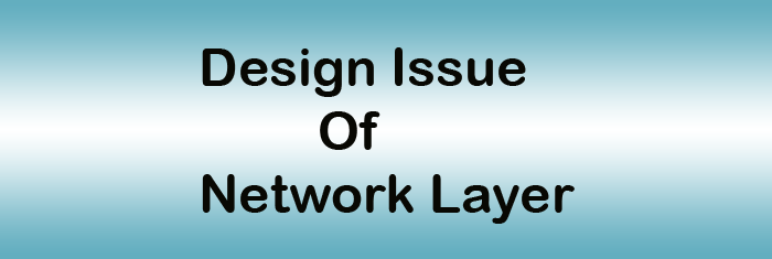 design issue of network layer