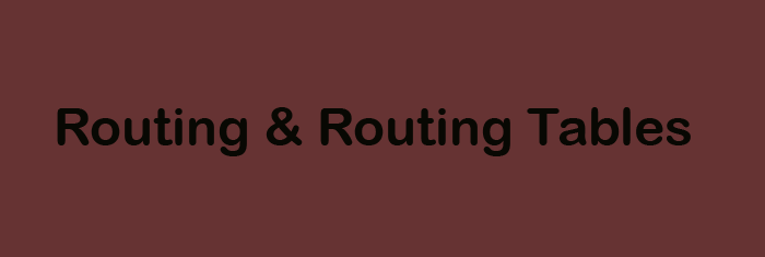 routing and routing tables