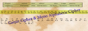 caesar cipher mono alphabetic cipher