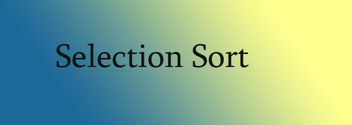 selection sort feature