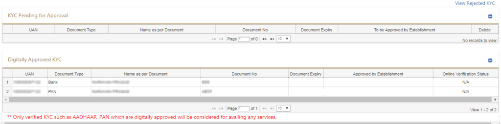 ekyc pending and approved copy