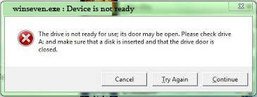 error device is not rady to use new copy