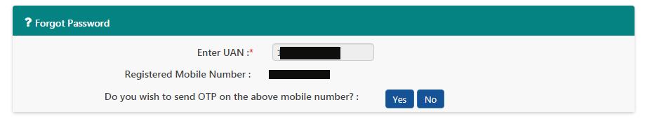 uan forgot passwordnew