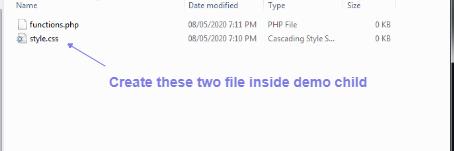 create file in demo child