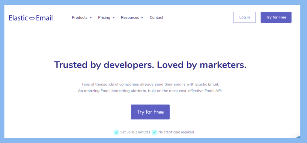 elastic email - email marketing service new