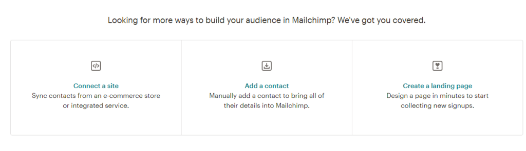 mailchimp add contacts
