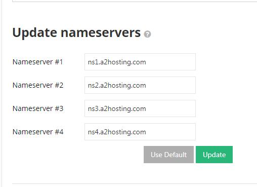 nameserver records update