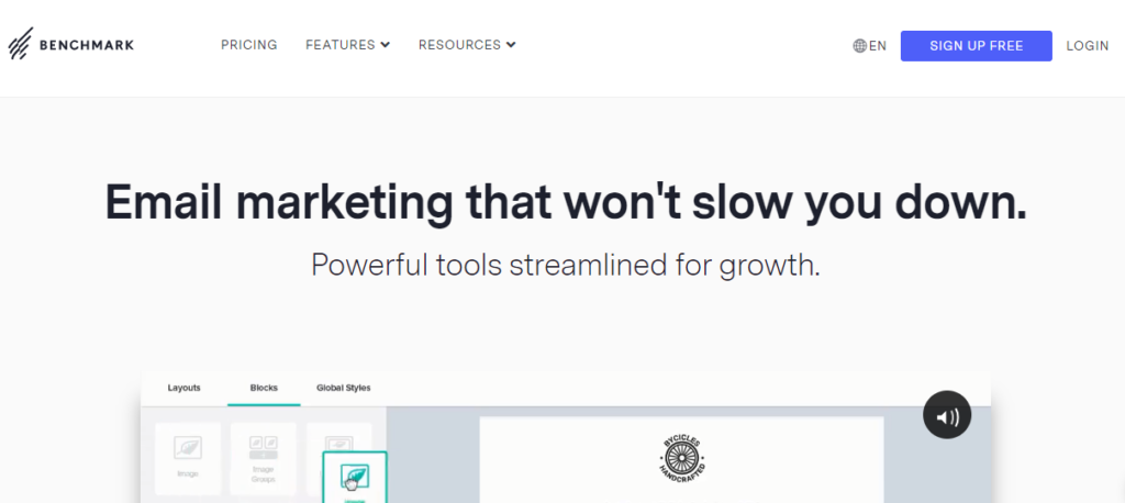 Benchmark -Best email marketing service 2020