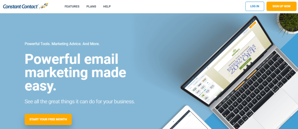Constant contact -best email marketing service 2020