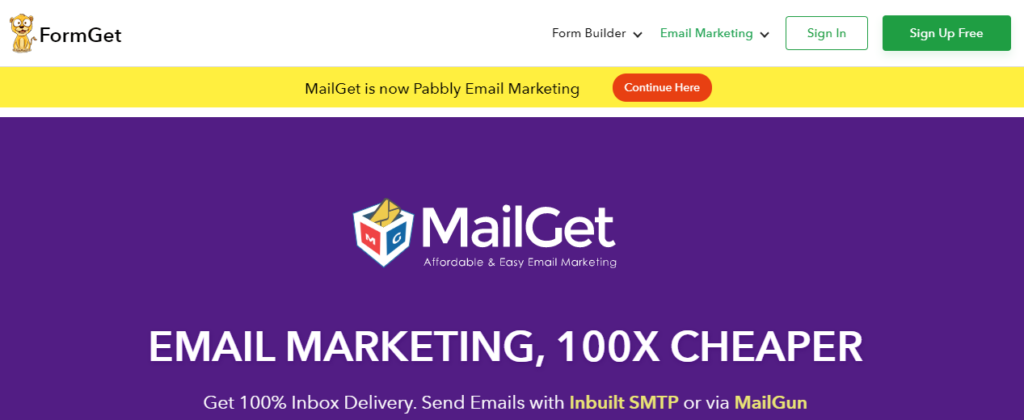 MailGet - Best email marketing service 2020