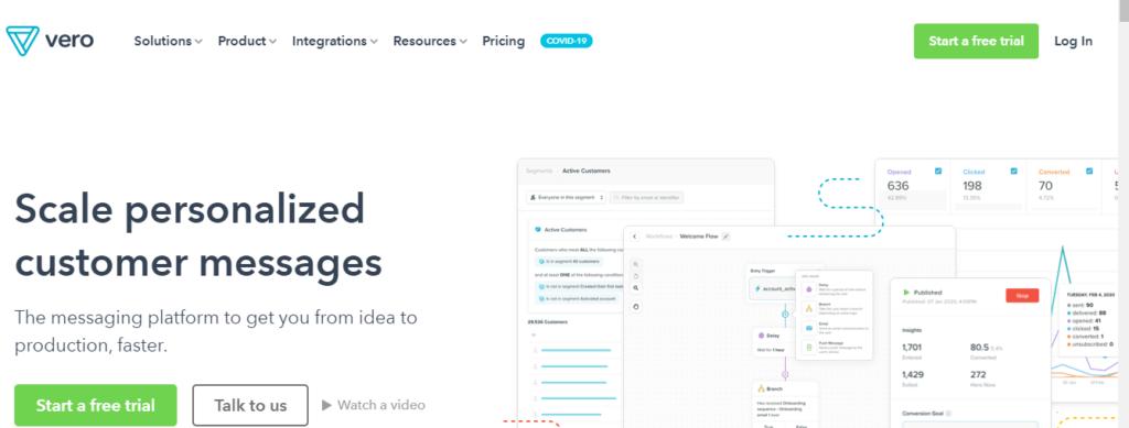 Vero - best email marketing service 2020