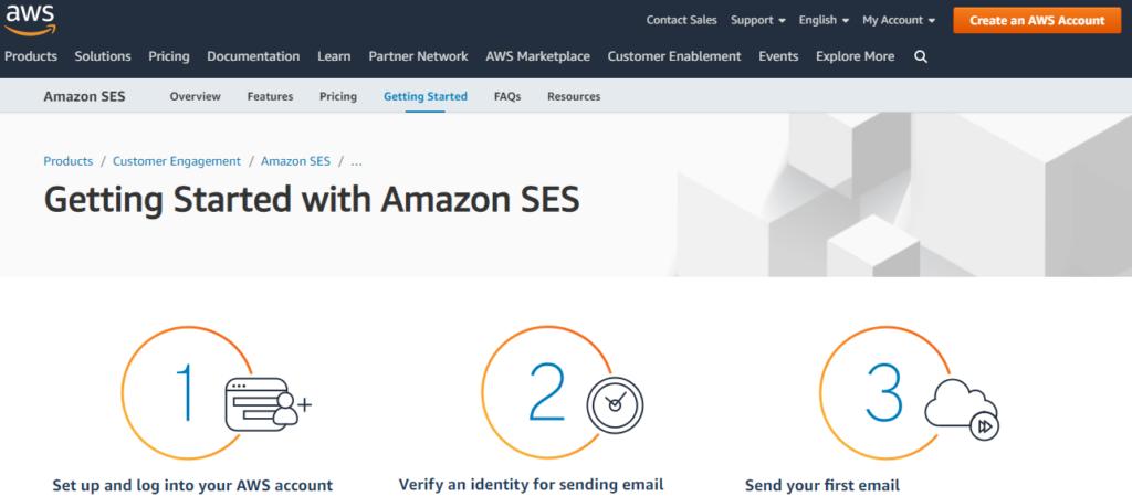 amazon ses or smtp service provider