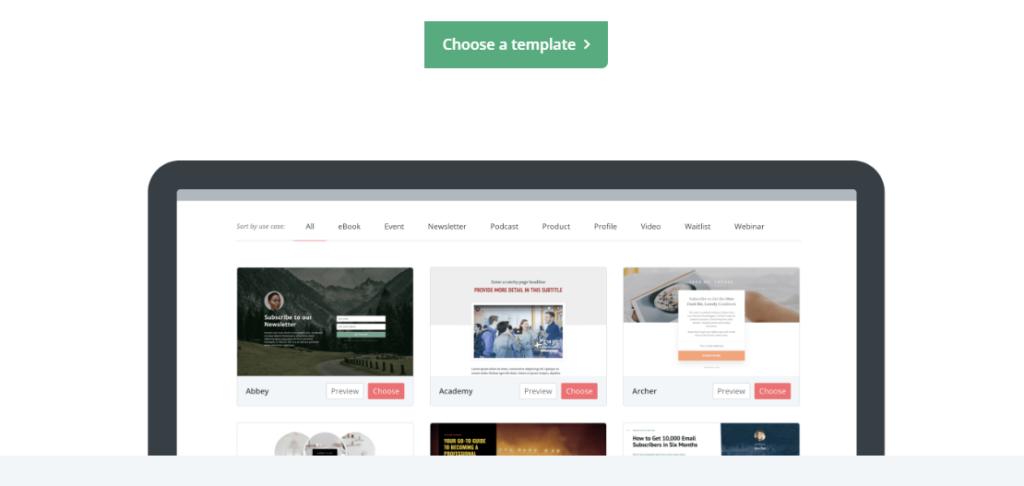convertkit- best email marketing service 2020 choose templates