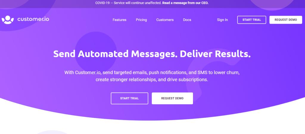 customer.io - best email marketing service 2020