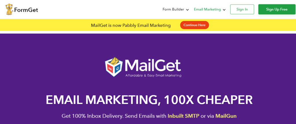 mailget email marketing service