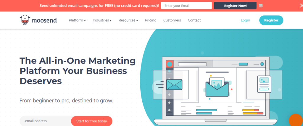 moosend email marketing service
