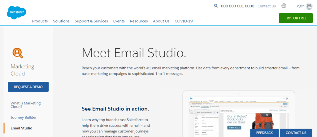 sales force marketing cloud - best email marketing service 2020