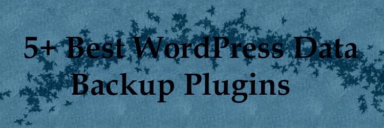 5+ best WordPress data backup plugins