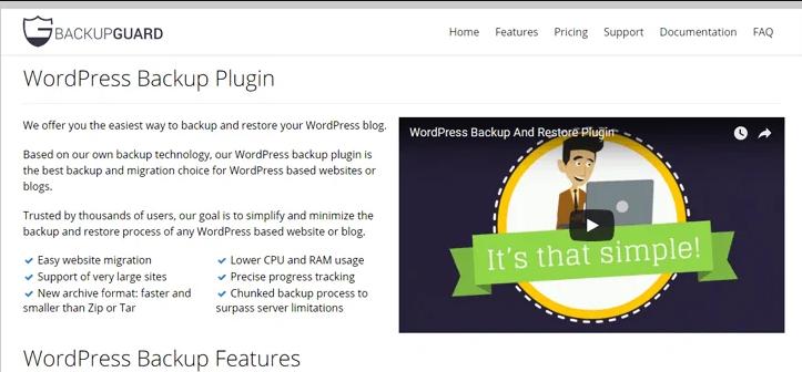 backupgaurd wordpress backup plugin