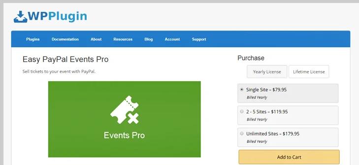 easy paypal event pro plugin -wordpress paypal plugin