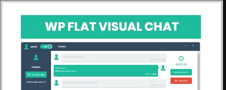 flat visual chat - WordPress chat plugin - live chat box