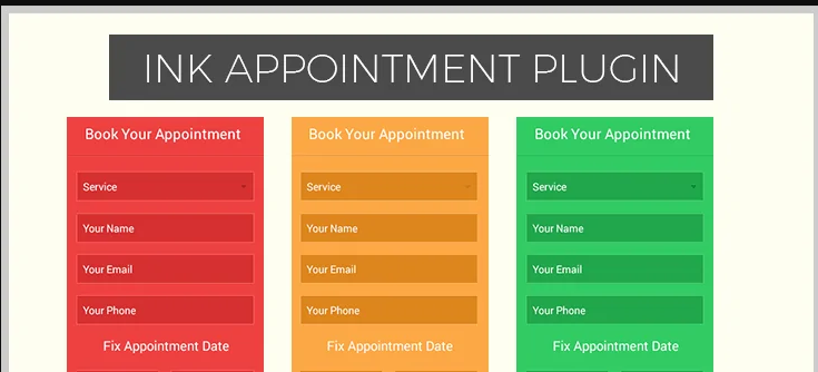 ink appointment wordpress booking plugin
