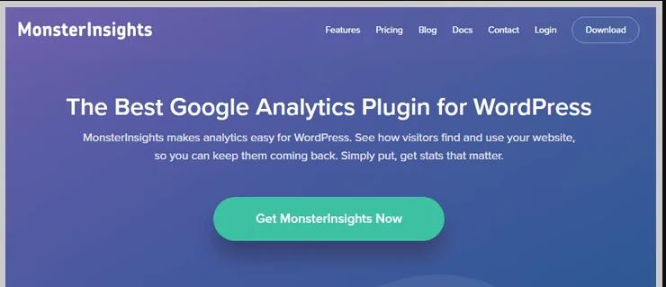 monsterinsights wordpress google analytics plugin