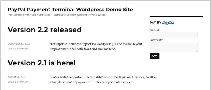 paypal payment terminal-wordpress paypal plugin