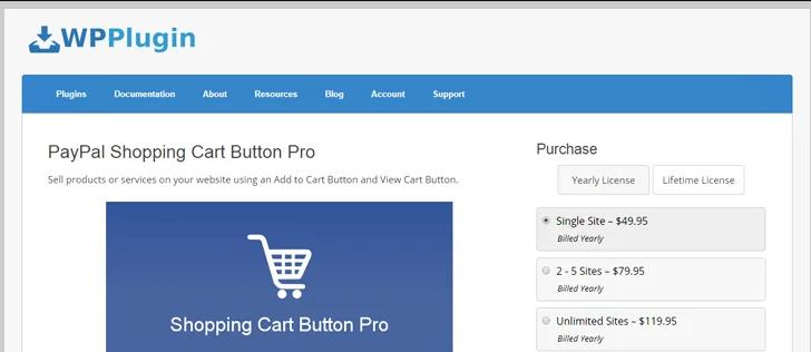 paypal shopping cart button pro -wordpress paypal plugin