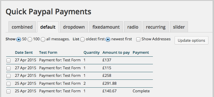 quick paypal payments-wordpress paypal plugin