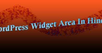 wordpress widget area in hindi
