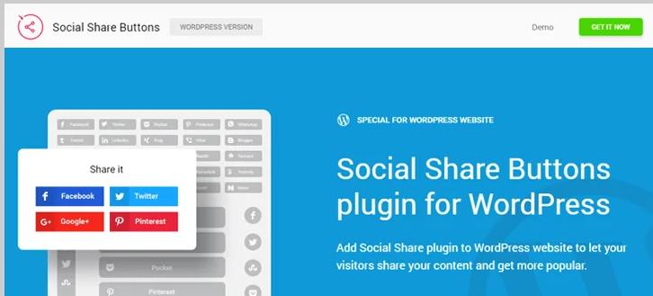 WordPress social share buttons plugins