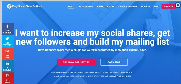 easy social share buttons WordPress social media plugins