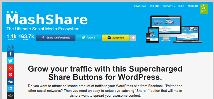 mash share wordpress social media plugin