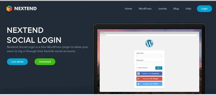 nextend social login wordpress plugin