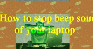 stop beep sound at laptop startup