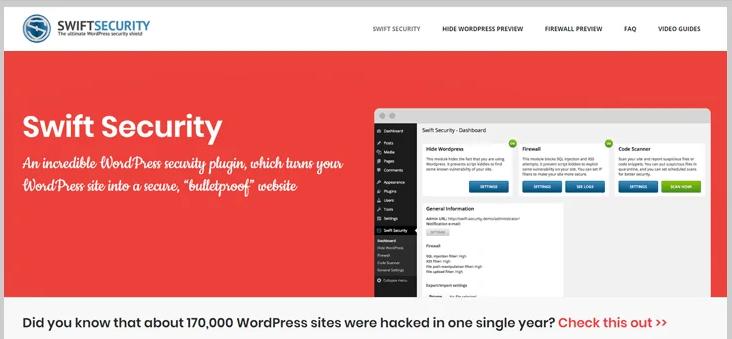 swift security wordpress security plugin