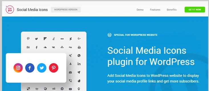 wordpress social media icons plugins