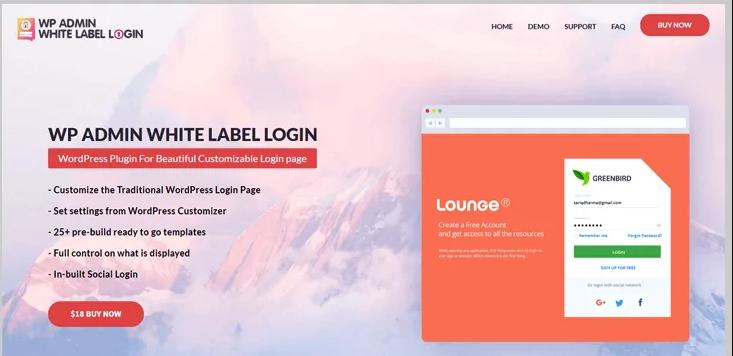 wp admin white label login wordpress plugin