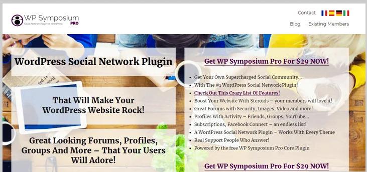 wp symposium social network wordpress forum plugin