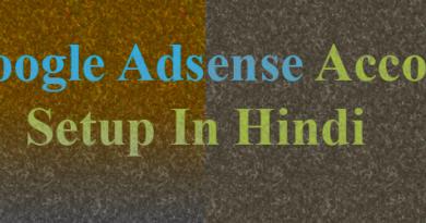 google adsense account setup in hindi