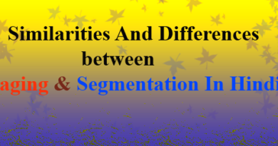 Similarities And Differences between Paging and Segmentation in hindi