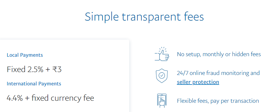 paypal per transaction fees