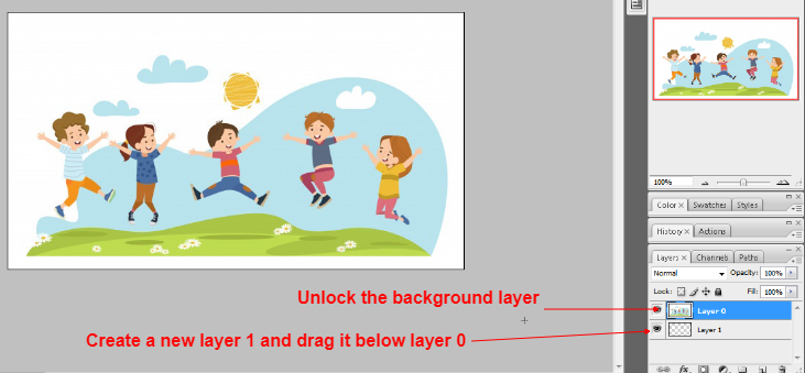 Clipping mask in photoshop in Hindi 1