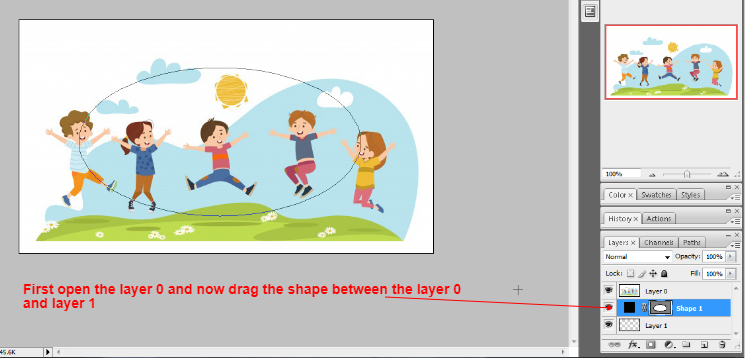 Clipping mask in photoshop in Hindi 3