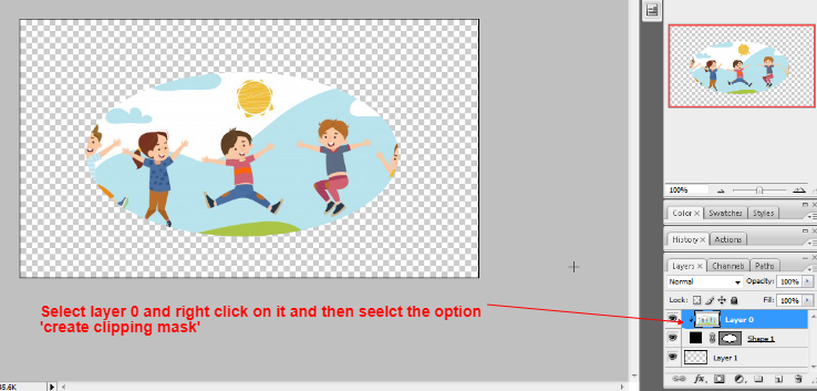 Clipping mask in photoshop in Hindi 4