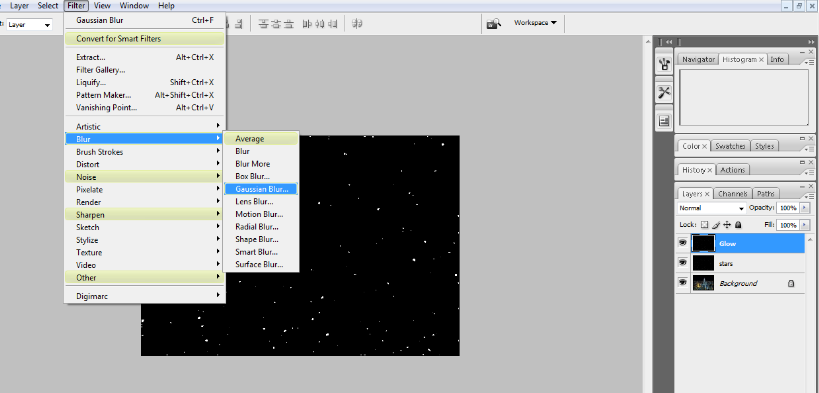 Create A Starry Night Sky In Photoshop 14